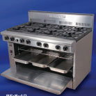 Goldstein PF-12G-6-40 (PF12G640) Gas Range, 6 Burners, static wide oven