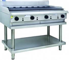 Luus CS-12C 1200mm Chargrill with legs & shelf
