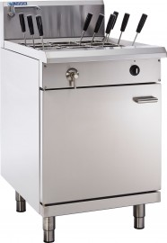 Luus PC-60 9 Basket Pasta Cooker with thermostat control, drain and overflow system
