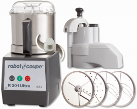 Robot Coupe R301 Ultra - R301 Ultra D Food Processor 3.7 Litre Bowl includes 4 discs