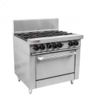 Trueheat RC Series RCR9-4-3G-LP - Four Open Top Burners & 300mm Griddle LP Oven Range