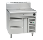 Waldorf 800 Series RN8100G-RB - 900mm Gas Target Top - Refrigerated Base