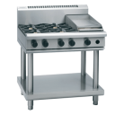 Waldorf 800 Series RNL8603G-LS - 900mm Gas Cooktop Low Back Version - Leg Stand