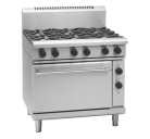 Waldorf 800 Series RNL8610GE - 900mm Gas Range Electric Static Oven Low Back Version