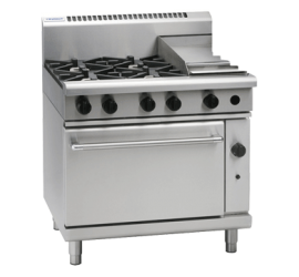 Waldorf 800 Series RN8613G - 900mm Gas Range Static Oven