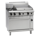 Waldorf 800 Series RNL8616GEC - 900mm Gas Range Electric Convection Oven Low Back Version