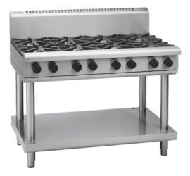 Waldorf 800 Series RNL8800G-LS - 1200mm Gas Cooktop Low Back Version Leg Stand