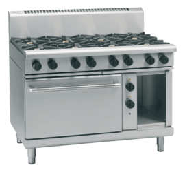 Waldorf 800 Series RNL8816GE - 1200mm Gas Range Electric Static Oven Low Back Version