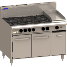 Luus RS-6B3P 6 Burner 300mm Griddle & Oven with flame failure