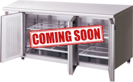 Hoshizaki RTC-180SNA-ML Three Door Pillarless Stainless Steel Counter Refrigerator - 398L