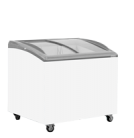 Exquisite SD271 271L Curved Glass Display Chest Freezer