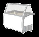 Exquisite SD415S2 415L Ice Cream Freezer with Canopy
