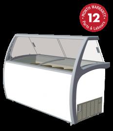 Exquisite SD575S2 Twelve tubs Ice Cream Scooping Freezers