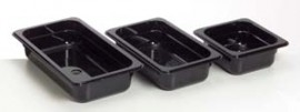 Black Polycarbonate Food Pan - 1/1 Size - 65mm deep