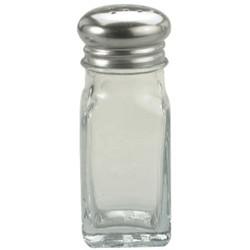 Chef Inox Glass Salt Pepper Shaker Stainless Steel Top 60ml