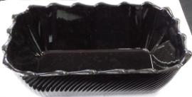 Black Scalloped Bowl - 265x175x85