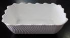 White Scalloped Bowl - 265x175x85W