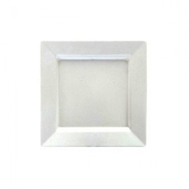 White Melamine Square Platter Large - 400x400mm