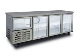 Anvil Aire UBG2400 Underbar Refrigerator, Glass Doors