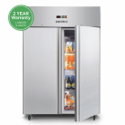 Bromic UC1300SD 1300L Gastronorm Two Stainless Steel Solid Door Storage Refrigerator