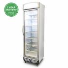 Bromic UF0374LS LED 300L LED Single Flat Glass Door Display Freezer