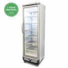 Bromic UF0374S LED 300L LED Single Flat Glass Door Display Freezer