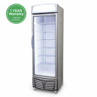 Bromic UF0440LS LED 440L LED Single Flat Glass Door Display Freezer