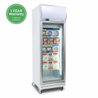 Bromic UF0500LF 444L LED Single Flat Glass Door Display Freezer