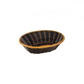 Black and Gold Polypropylene Oval Bread Basket