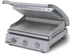 Roband GSA810ST - Grill Station, smooth plates, non-stick coated