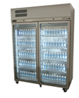 Williams LDS2GDSS Diamond Star Two Glass Door Stainless Steel Freezer