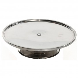 Stainless Steel Low Profile Cake Stand - 325 diameter, 80 high