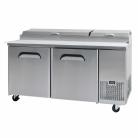 Bromic PP1700 572L Two Solid Door Food Preparation Counter Refrigerator - 9 pan capacity