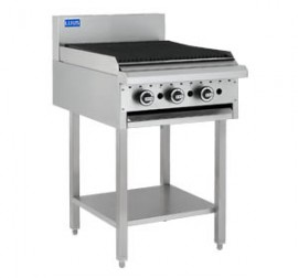 Luus BCH-3P3C 300mm Griddle 300mm Chargrill Combination with legs & shelf