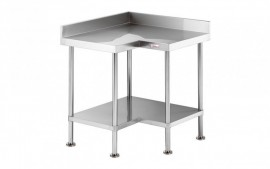 Simply Stainless SS04.0900 Corner Bench with Splashback