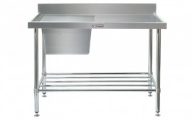 Simply Stainless SS05.1500.L Sink Bench with Splashback