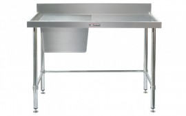 Simply Stainless SS05.1200.L.LB Sink Bench with Splashback