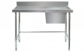 Simply Stainless SS05.1200.R.LB Sink Bench with Splashback