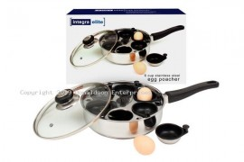 Non Stick 6 Cup Egg Poacher with Glass Lid
