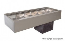 Woodson W.CFSSN24 (WCFSSN24) 4 Module Flat Deck Self Serve Cold Food Display