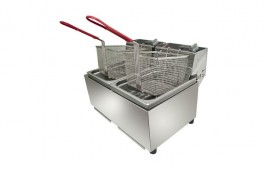 Woodson W.FRT50 (WFRT50) Twin Pan Fryer