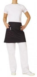 1/2 Waist Black Apron with Pocket