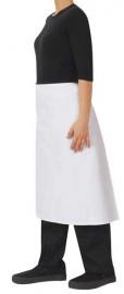 3/4 Waist White Apron - 86x70cm - No Pocket