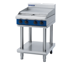 Blue Seal G514B-LS 600mm Griddle Plate Gas Cooktop - Leg Stand