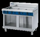 Blue Seal G518A-CB 2 Burner, 900mm Griddle Plate Gas Cooktop - Cabinet Base