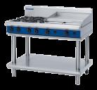 Blue Seal G518B-LS 4 Burner, 600mm Griddle Plate Gas Cooktop - Leg Stand