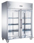 Exquisite GSC1410G Two Glass Doors Upright Storage Refrigerators