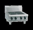 Waldorf 800 Series RNL8403E-B - 600mm Electric Cooktop Low Back Version Bench Model
